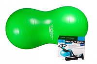 Мяч гимнастический фитбол  - орех PowerPlay 4004 100х50см + насос
