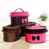 Тканевая косметичка органайзер Bow storage bag  с бантиком (Боу сторедж Бег), фото 1