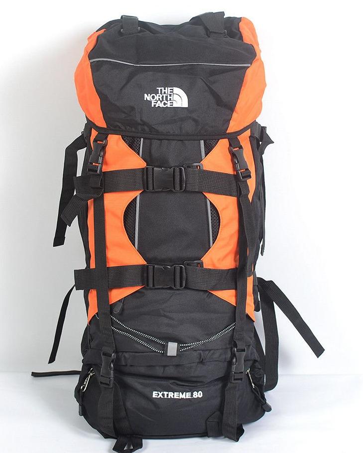Туристический рюкзак The North Face на 80 литров (оранжевый,красний,серий,салатовий)