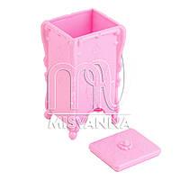 Контейнер-емкость  для безворсовых салфеток,нежно-розовая
