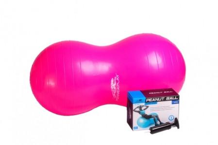 Мяч гимнастический фитбол  - орех PowerPlay 4004 90*45 см + насос