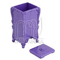 Контейнер-емкость  для безворсовых салфеток, фиолетовая