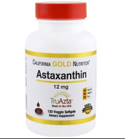 California Gold Nutrition, Natural Astaxanthin, Triple-Strength, U.S. Sourced & Made, No GMOs, 12mg, 120 Veggi
