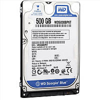Жесткий диск для ноутбука 500Gb Western Digital Scorpio Blue, SATA2, 8Mb, 5400 rpm (WD5000BPVT) (Ref)