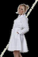Халат ж Маргарита 42-170 сорочечна білий-білий П3\4