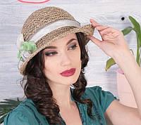 Летняя женская шляпа  из натуральной соломки