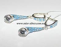 Серьги с эмалью серебро 925 - Люсия