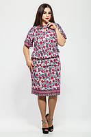 Женское летнее платье  Катарина белое (50-58)