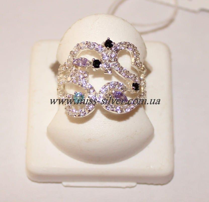 Серебряное кольцо с цирконием Мари