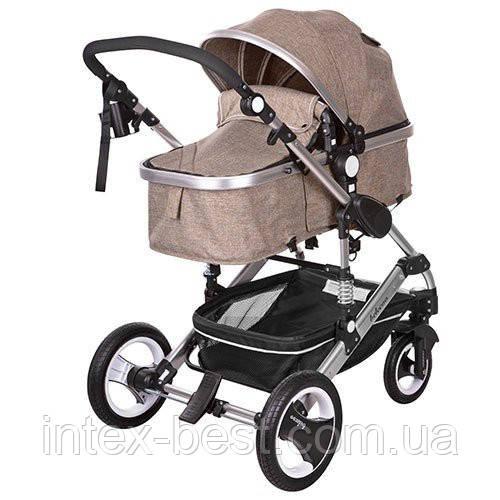 Детская коляска-трансформер Bambi Бежевая 535-Q3-KHAKI