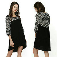 Елегантна чорна сукня з шифону для дівчат 64c147282c9b1