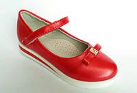 Детские нарядные туфли для девочки на небольшой танкетке, р. 26-31