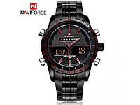Мужские часы Naviforce Army из нержавеющей стали. Влагозащита 30 метров. Хорошее качество. Доступно Код: КГ914