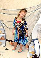 Пляжная шифоновая туника на девочку под купальник