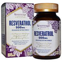 ReserveAge Nutrition, Ресвератрол, 500 мг, 60 вегетарианских капсул