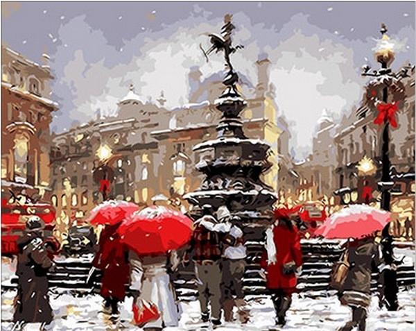 Раскраска по цифрам 40×50 см. Время Рождества Художник Ричард Макнейл