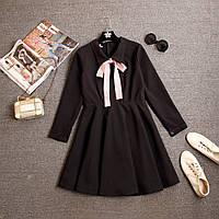 Черное платье с бантом, фото 1