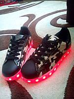 Оригинальные подростковые кроссовки LED лэд хит продаж