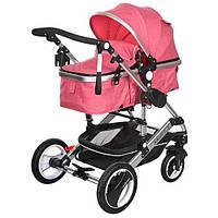 Детская коляска-трансформер Bambi Розовая 535-Q3-PINK