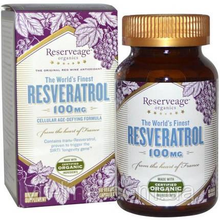 ReserveAge Nutrition, Ресвератрол, 100 мг, 60 капсул на растительной основе, фото 2