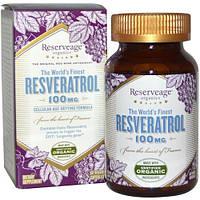 ReserveAge Nutrition, Ресвератрол, 100 мг, 60 капсул на растительной основе