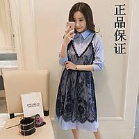 Платье-рубашка с гипюровым сарафаном сверху, фото 1