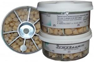 Зубы пластмассовые Эстедент-02 передние нижние Стома