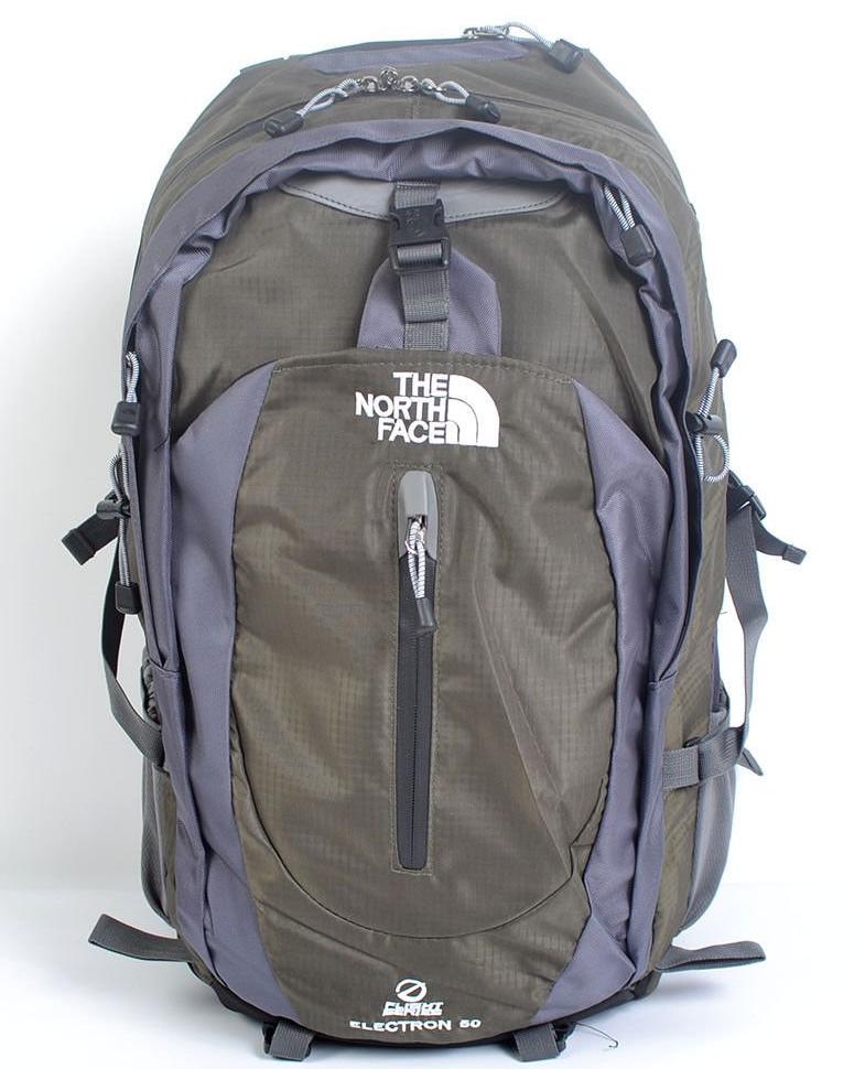 Рюкзак туристический The North Face на 50 литров(каркасный) - зеленый