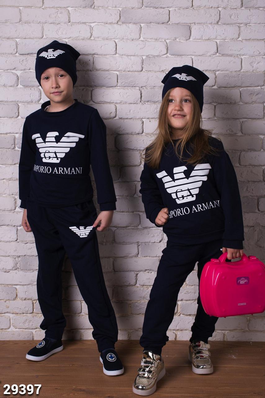 Детский спортивный костюм с шапкой