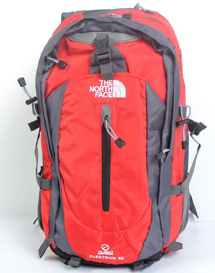 Рюкзак туристический The North Face на 50 литров(каркасный) - красный