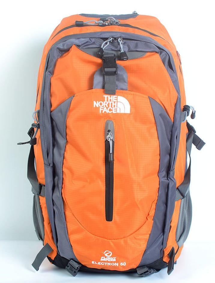 Рюкзак туристический The North Face на 50 литров(каркасный) - оранжевый