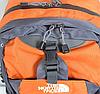 Рюкзак туристический The North Face на 50 литров(каркасный) - оранжевый, фото 2