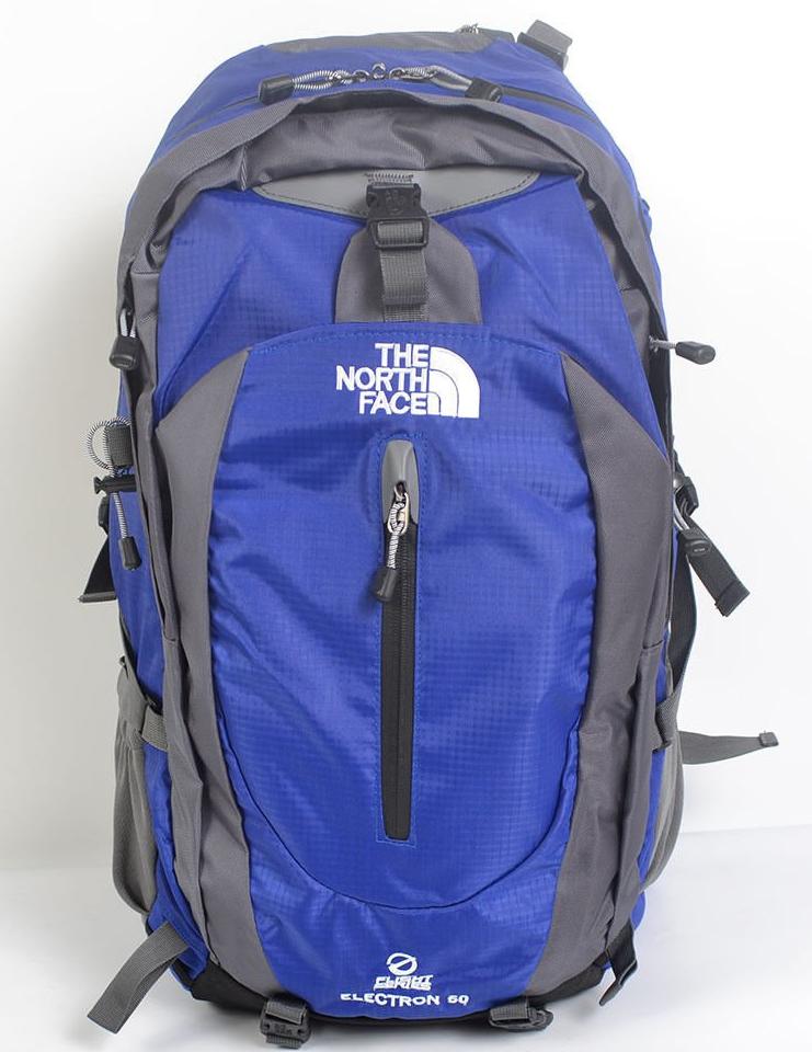 Рюкзак туристический The North Face на 50 литров(каркасный) - синий