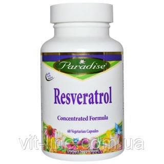 Paradise Herbs, Ресвератрол, 60 вегетарианских капсул, фото 2