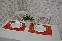 Подставка на стол Красные звездочки 45*30 см