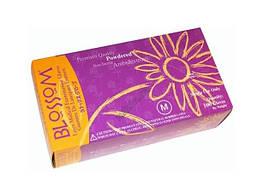 Нитриловые текстурированные перчатки Blossom 50 пар