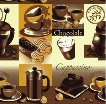 Клеёнка силиконовая непрозрачная Капучино-шоколад