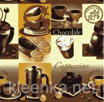 Клеёнка силиконовая непрозрачная Капучино-шоколад, фото 2