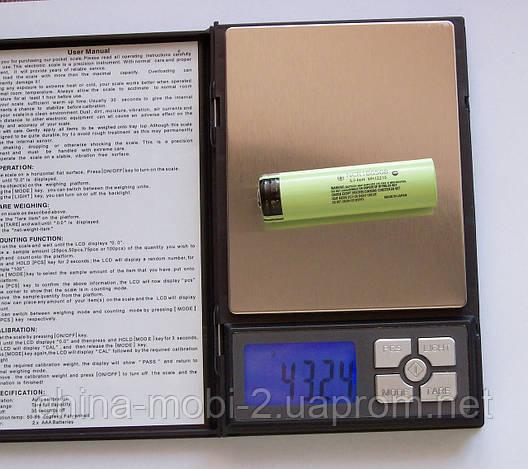 Акумулятор Li-Ion NCR18650B 3.7-4.2 V 3400mAh green, фото 2