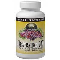 Source Naturals, Ресвератрол 200, 200 мг, 60 таблеток