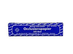 Артикуляционная бумага Bausch BK09 синяя 200 шт. (40 мк.)