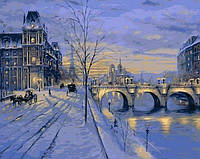 Картины по номерам 40×50 см. Зимний вечер в Париже Художник Роберт Файнэл, фото 1