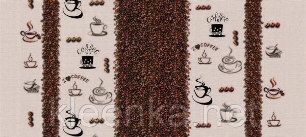 Клеёнка силиконовая непрозрачная с зернами кофе