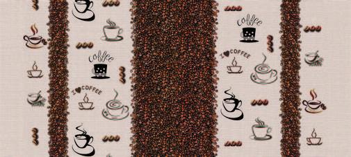 Клеёнка силиконовая непрозрачная с зернами кофе, фото 2