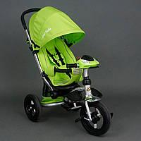 Велосипед-коляска Best Trike 698 с опускающейся спинкой (салатовы)