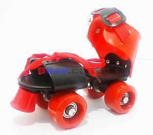 Ролики дитячі квадровые Mini Roller Червоний (2T3001)