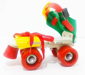 Ролики дитячі квадровые Mini Roller Зелений/Жовтий (2T3001)