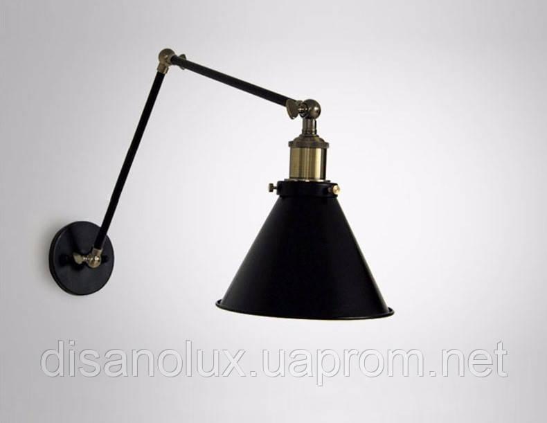 Светильник LOFT  настенный   DL -B250/2  BLACK E27