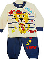 Костюм хлопчик трикотаж 74-86 кофта+штани арт.190