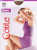 Колготы CONTE NUANCE 20 ден (natural, shade, nero o, mocca, grafit) (2;3; 4)